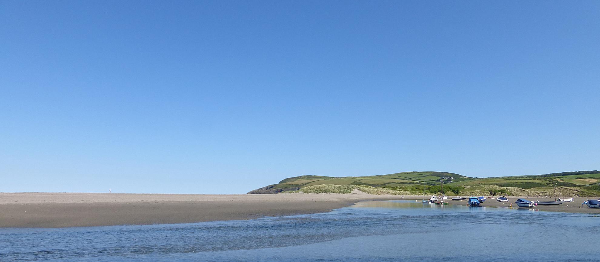 The beach at Newport Pembrokeshire